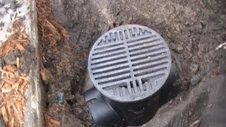 getlinkyoutube.com-Clean this Drain - Save 1000's. French Drain, Downspout Drain Line - How To Clean, DIY