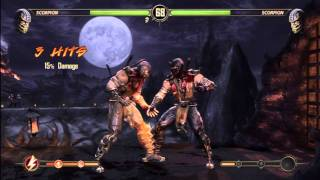 getlinkyoutube.com-Mortal Kombat 9 Scorpion GET OVER HERE (DEMO)