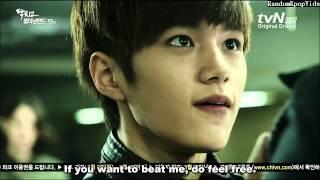 "getlinkyoutube.com-[ENG SUB] L (INFINITE) - L(Hyunsoo) beating Jihyuk. (Cut from ""닥치고 꽃미남 밴드"", Ep. 13)"