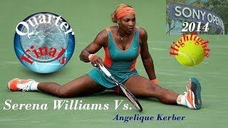 getlinkyoutube.com-HD)Serena Williams vs.Angelique Kerber Miami*Sony Open*Highlights-2014