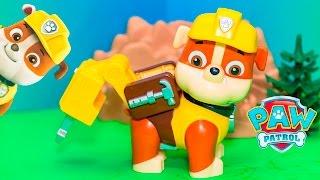 getlinkyoutube.com-PAW PATROL Nickelodeon Paw Patrol Jumbo Rubble with Jack Hammer a Paw Patrol Video Toy Unboxing