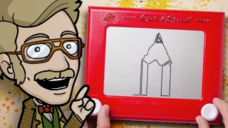 DRAWING with an ETCH A SKETCH: Art Challenge!