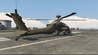 getlinkyoutube.com-GTA V AH-64D Apache gunship vs. Police rampage (+new features)