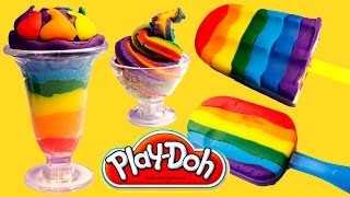 getlinkyoutube.com-Play Doh Ice Cream Playdough Popsicles Play-Doh Scoops 'n Treats Hasbro Toys Playset