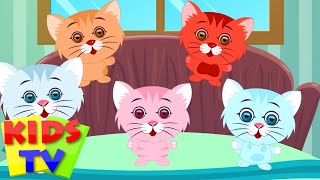 getlinkyoutube.com-Five Little Kittens | English nursery rhymes for children | baby songs