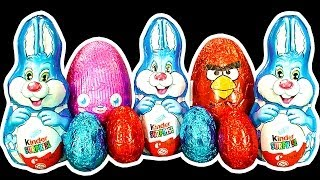 getlinkyoutube.com-Angry Birds Easter Egg Hunt Kinder Surprise Bunny Population Control Extreme Unwrapping