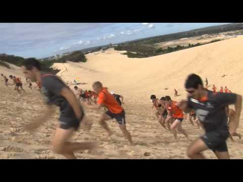 GWS GIANTS battle the sand dunes