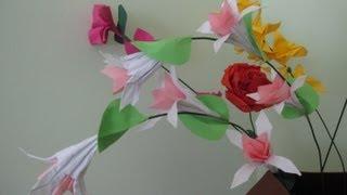 getlinkyoutube.com-Origami fuchsia (fuksja origami)