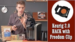 getlinkyoutube.com-Keurig 2.0 quick & easy hack with DRM Freedom Clip (use any K-Cup) | Presto Chef