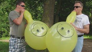 "getlinkyoutube.com-balloon contest - blow to pop race - B2P - Swan 16"" Punch Ball Balloons – Smiley"