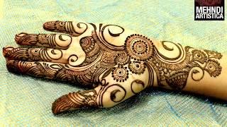 getlinkyoutube.com-Easy Simple Beautiful Circular Mehndi Designs For Hands|Latest Henna For Palm|MehndiArtistica Design