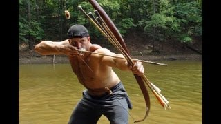 getlinkyoutube.com-Hunting Dragonflies with a Primitive Bow 2! (HD)  Retaliation