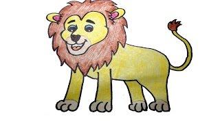 getlinkyoutube.com-วาดรูปสิงโต สอนวาดรูปการ์ตูนน่ารักง่ายๆ สอนวาดรูปการ์ตูนระบายสี How To Draw Lion Cartoon