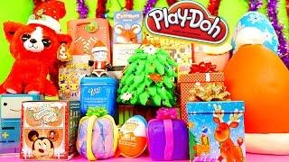 getlinkyoutube.com-Play Doh Eggs Surprise Toys Christmas Videos Special Blind Boxes Kinder Joy Disney Cars Toy Club
