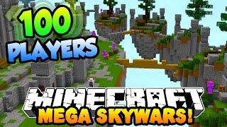 "getlinkyoutube.com-Minecraft MEGA SKYWARS ""100 PLAYER BATTLES"" #1 w/PrestonPlayz & Kenny"