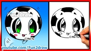 getlinkyoutube.com-How to Draw Soccer Ball - Football - Fifa World Cup - Learn how to Draw  Fun2draw cartoons