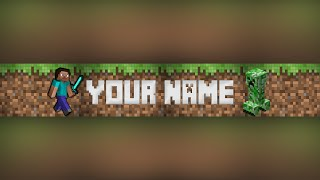 getlinkyoutube.com-Photoshop Minecraft Banner/Channel Art Template #2 (download .psd)