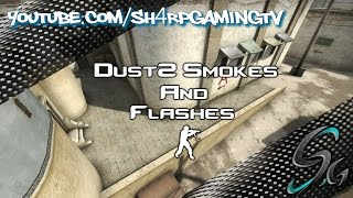 getlinkyoutube.com-CSGO Dust2 Smokes and Flashes