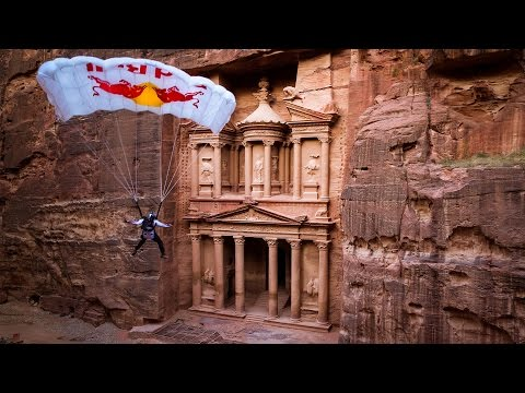 BASE Jump From A World Wonder: The Lost City of Petra | Miles Daisher