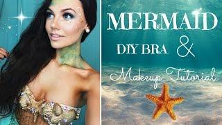getlinkyoutube.com-Halloween Tutorial Mermaid Makeup and DIY Bra!