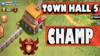 getlinkyoutube.com-Clash of Clans - *TOWN HALL 5 CHAMPION AT 4,000 CUPS!* TH5 Highest Trophy Record!