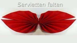 getlinkyoutube.com-Servietten falten einfach: Fächer Anleitung - leichte Tischdeko