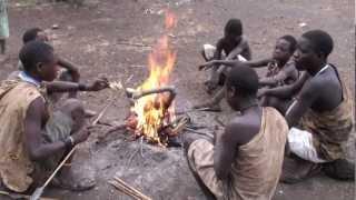 getlinkyoutube.com-Hunting with the Hadzabe (Bushman) tribe