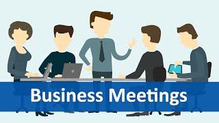 getlinkyoutube.com-Common Expressions #6 (Business Meetings) | English Listening & Speaking Practice