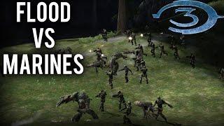 getlinkyoutube.com-Halo 3 AI Battle - Flood vs Marines