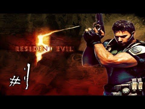 1080p - Resident Evil 5 Walkthrough / Gameplay with LazyCanuckk Part 1 - Teaching Jason How to Play