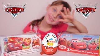 getlinkyoutube.com-[OEUF] Oeufs Surprises Cars et Cars 2 Disney, Kinder Joy Surprise Rio 2 - Unboxing Eggs