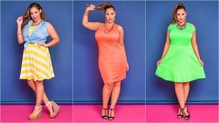 getlinkyoutube.com-Vestidos elegantes para Gorditas | Moda para Gorditas
