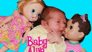 getlinkyoutube.com-Baby Alive BOY BABY Newborn AllToyCollector New Baby - Baby Alive Dolls in LOVE Toys Video