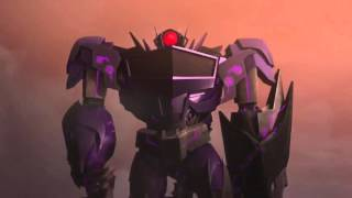 getlinkyoutube.com-Transformers: Prime Optimus Prime Bumblebee and Smokescreen vs Soundwave Shockwave and Laserbeak