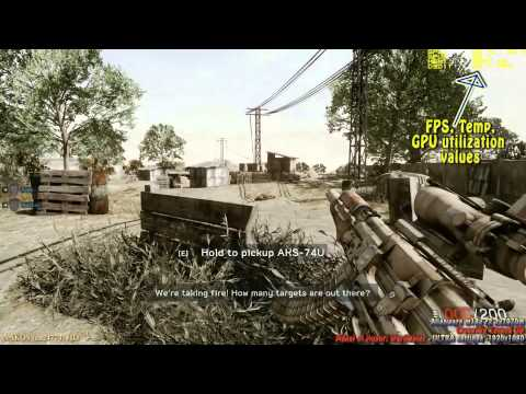 Alienware m18x r2 7970m Crossfire - MoH Warfighter test ULTRA settings