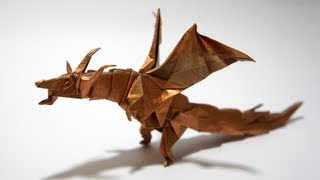 getlinkyoutube.com-Origami Fiery Dragon (Kade Chan) - Dragon #4