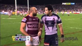 getlinkyoutube.com-Manly Sea Eagles vs Melbourne Storm Fight 2011 Blair vs Stewart