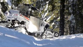 getlinkyoutube.com-Tracked RZR snow riding in Noxon Montana