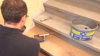 getlinkyoutube.com-Jak wyremontować i okleić schody?  UZIN NC 880 oraz UZIN WK 222