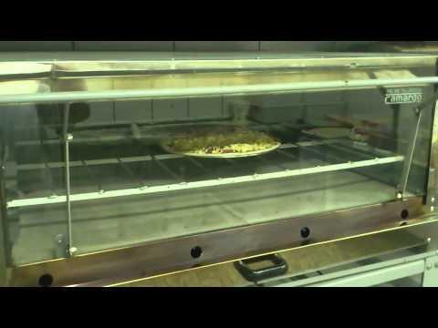 Pizza no forno a gás