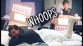 I broke my foot & got a huge box in the post!