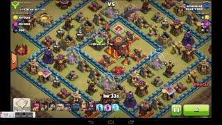 getlinkyoutube.com-Clash Of Clans - New 4 Golem 4 Witches Gowiwi Attack Strategy - Destroy Max Th10