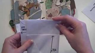 getlinkyoutube.com-Tall Envelope Mini Scrapbook Album Tutorial