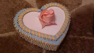 getlinkyoutube.com-3D Origami Heart Box Tutorial