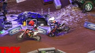 65cc Youth rider Ollie Colmer crash - AX Birmingham