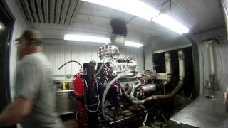 getlinkyoutube.com-Blown Alcohol Engine Dyno Pull Exhaust Explosion