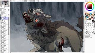 getlinkyoutube.com-One Foot In The Grave - Wolf Speedpaint