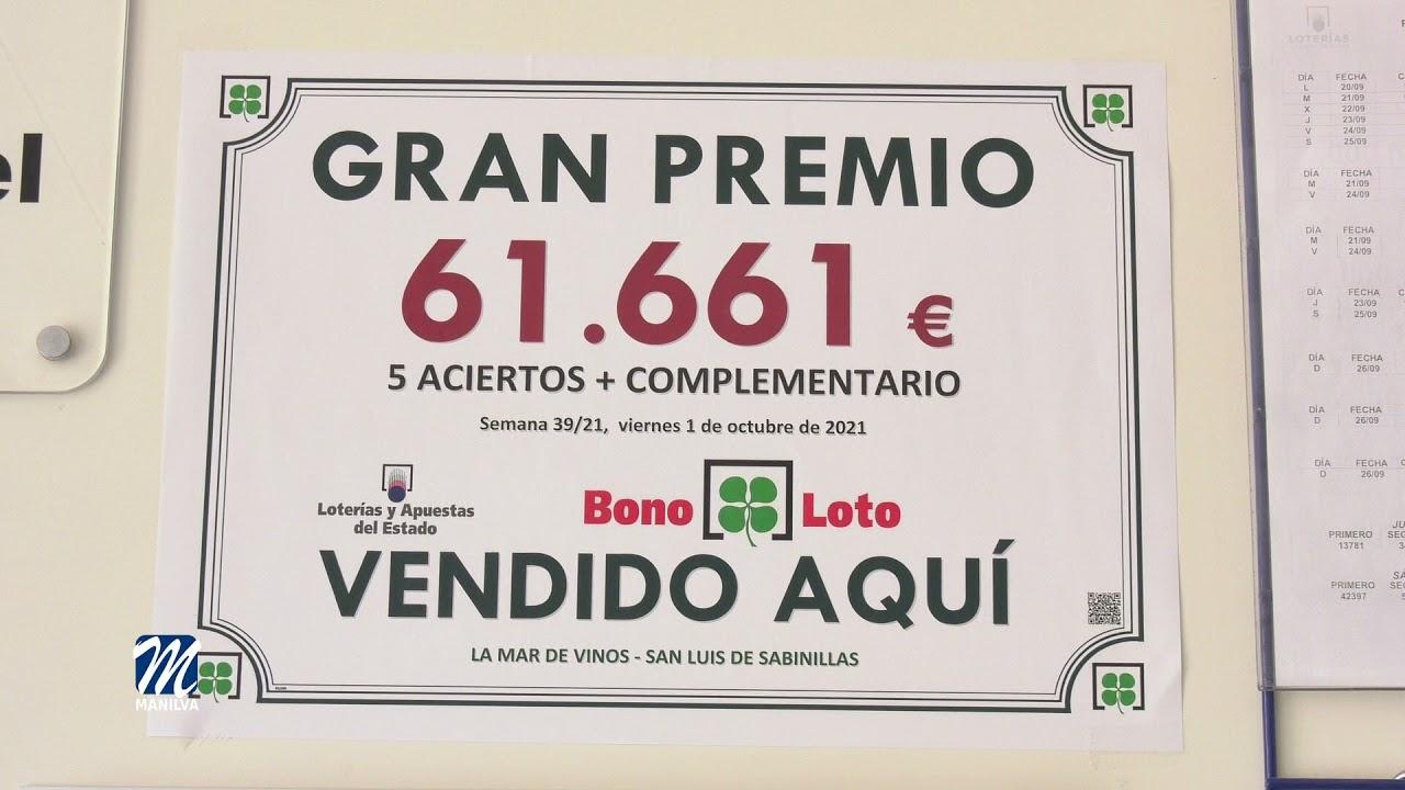 Segundo Premio de la Bonoloto en Sabinillas