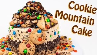 getlinkyoutube.com-M&M's Cookie Mountain Cake (with Chocolate Chip Cookie Dough) from Cookies Cupcakes and Cardio
