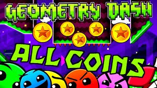 getlinkyoutube.com-Geometry Dash - All Coins (Levels 1-20)